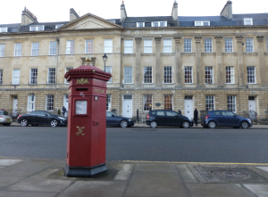 I took this in Bath's Great Pulteney Street: this wonderful old pillar box has no doubt been repainted many times since it was first installed more than a century ago