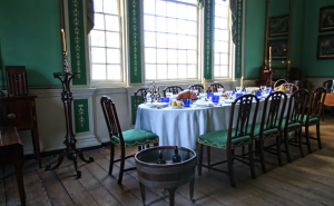 Washington's verdigris dining room